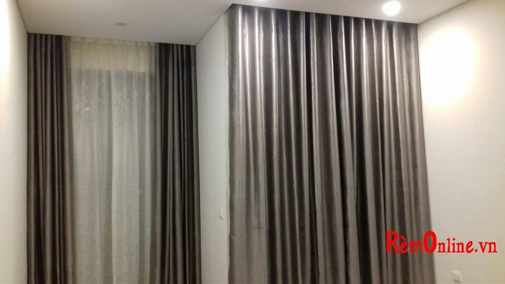 Rèm vải có thể dùng che chắn nhà tắm, cũng như ngăn cách giữa 2 phòng
